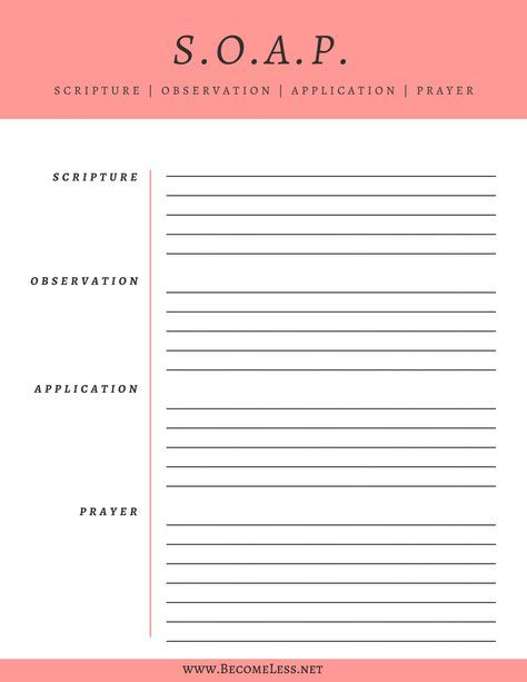 SOAP Bible Study Method + Free Printable | Click pin to download | Learn how to use the SOAP Bible Study Method with an example from Acts | How to study the Bible