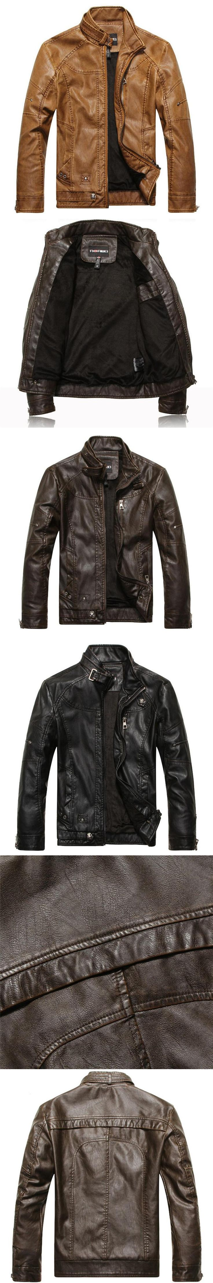 Winter Motorcycle Leather Jacket Men Jaqueta Masculinas Inverno Couro Male Business Casual Bomber Men's Faux Leather Jacket Coat