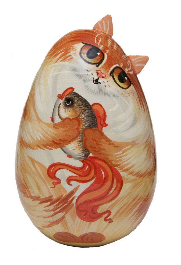 Схема вышивки «Кошка неваляшка» - Схемы вышивки - Пудик - Авторы - Портал «Вышивка крестом»
