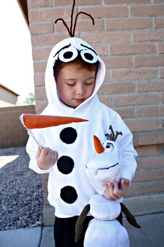 diy olaf costume - Last Minute Toddler Halloween Costumes