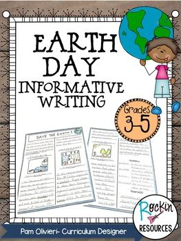 Earth Day Wrting Activity- Informative Writing Activity