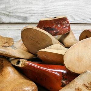 vintage wooden shoe forms