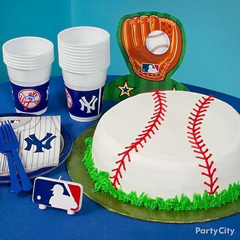 A baseball cake makes you look like you're in the cake-decorating major leagues -- And looks great on your party's tablescape, too!