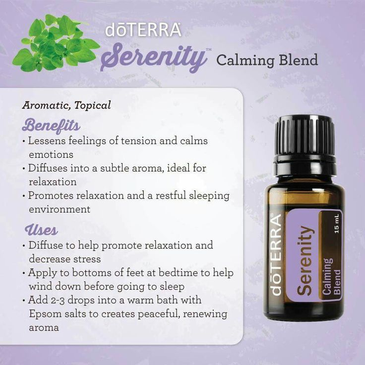 Ways to Use Serenity Calming essential oil blend from doTERRA