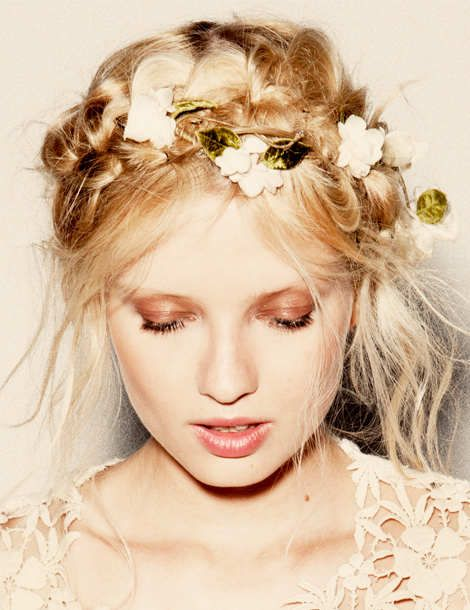with flowers in your hair