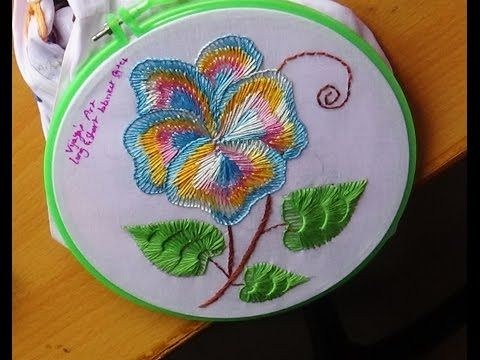 Hand Embroidery: Flower stitch - YouTube