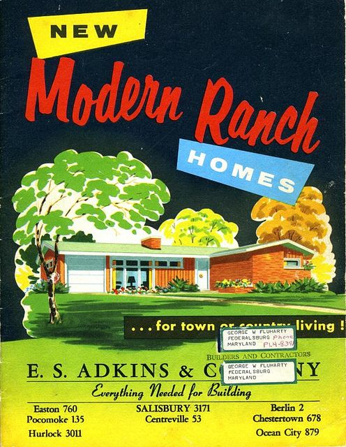 1000 images about mid century exteriors on pinterest for Custom ranch home builders maryland