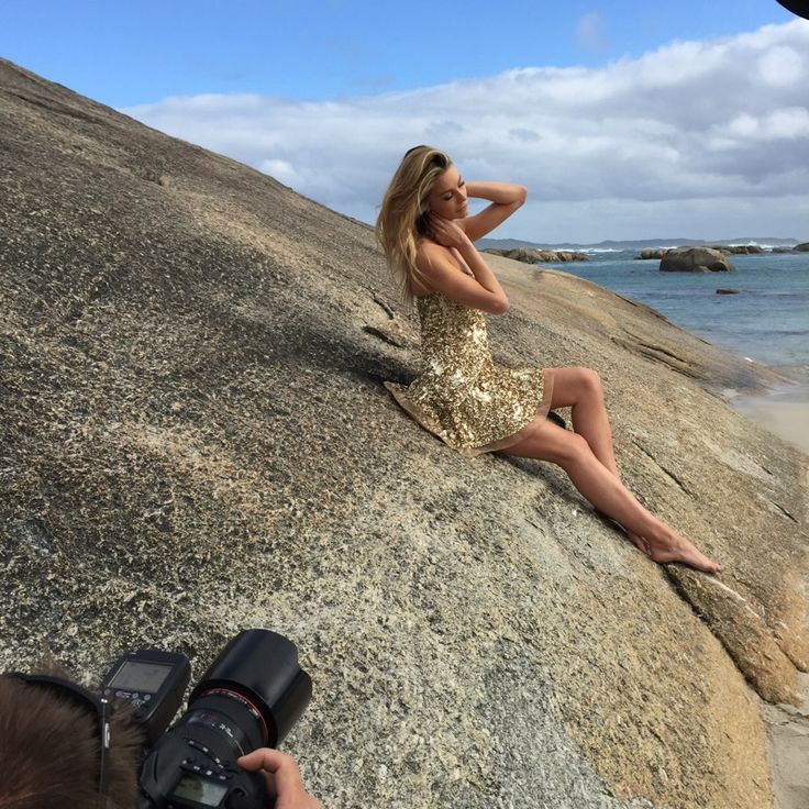 Some behind the shots of the incredible Jennifer Hawkins in Aje for the Myer Spring Summer Campaign. Photographer Tim Hunter. Product will be available in all Aje Boutiques and selected Myer stores from August 2015. Gigi Dress in Gold. #AjeTheLabel #Fashion #Style #Myer #Designers #JenHawkins #PhotoOfTheDay #Beach #Summer #Spring #Campaign #ElephantCove #WesternAustralia #Graffiti #Prints #Linen #Natural
