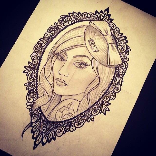 lace girl tattoo sketch guivy artforsinners valais geneva girly tattoo tatouage. Black Bedroom Furniture Sets. Home Design Ideas