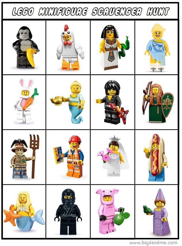 Printable Lego Minifig ScavengerHunt