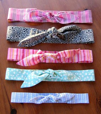 Tutorial - LOVE these headbands - elastic inside! :D