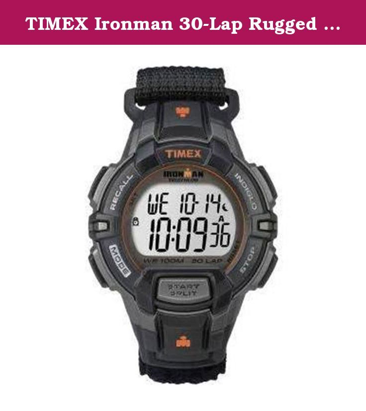 TIMEX Ironman 30-Lap Rugged Watch, Black BLACK. The iconic Timex Ironman 30-Lap Rugged Watch provides classic styling and functionality that athletes of all levels will appreciate.