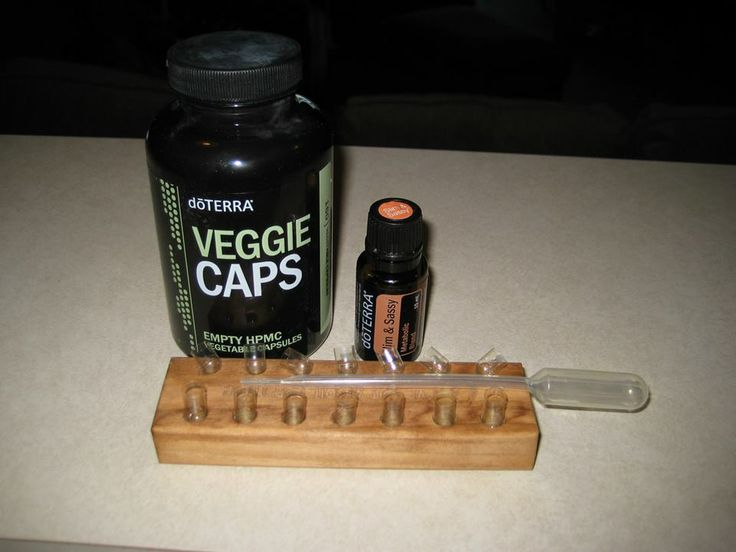 "I could not drink doTERRA's ""Slim and Sassy"" in water, so I got the Veggie Caps and put the oil in them. I store the veggie Caps in the freezer to make sure the Veggie Caps does not dissolve before I want it to (in my stomach) I then take a Veggie Cap with my Slim and Sassy smoothie! Works GREAT!!!  www.onedoterracommunity.com   https://www.facebook.com/#!/OneDoterraCommunity"