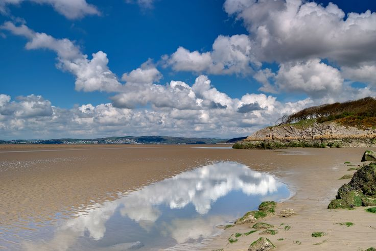 A whole new land reveals itself when the tides out at Silverdale.