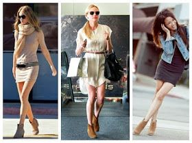 Ankle boots. How to wear them. Dresses.