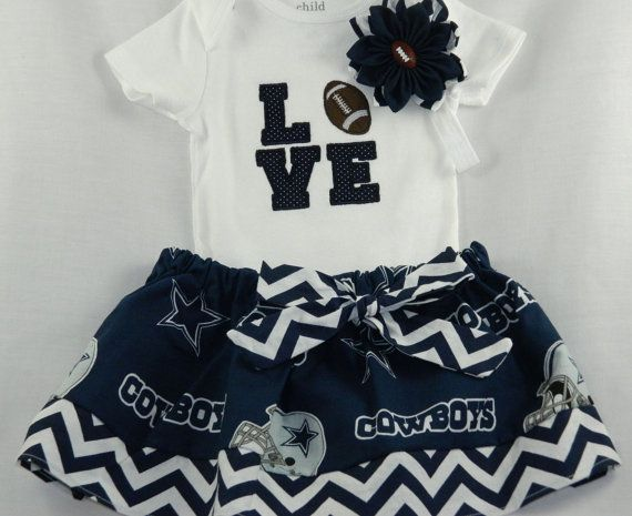 Dallas Cowboys NFL Embroidered onesie by TheVogueBabyBoutique, $40.00