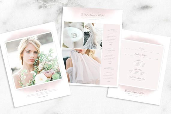Photography Price List Multi-Page Guides | Wedding Photography Price Guide Template | Photographer Pricing Guide | Price Template For Wedding Photographers and Creatives