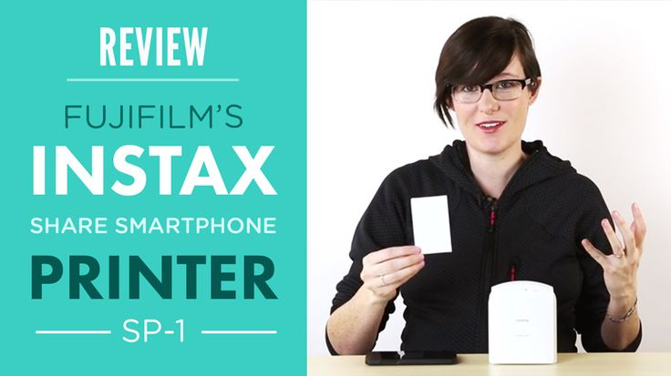 Get your photos off of your phone and into your hands, in seconds!   Check out our review of Fujifilm's Instax SHARE Smartphone Printer SP-1!