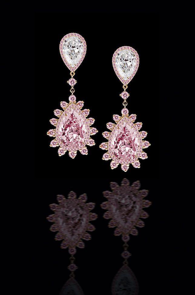 Leviev pink diamond teardrop earrings « Yara's Way Events