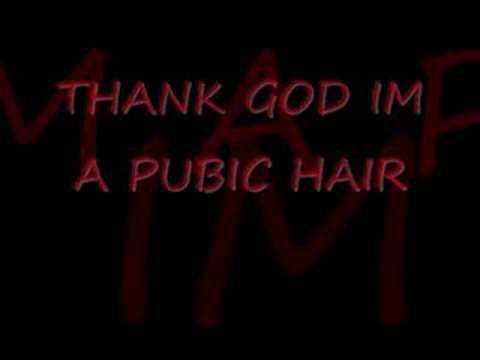 thank god ime a pubic hair (lyrics)