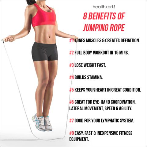 eight benefits of jumping rope!