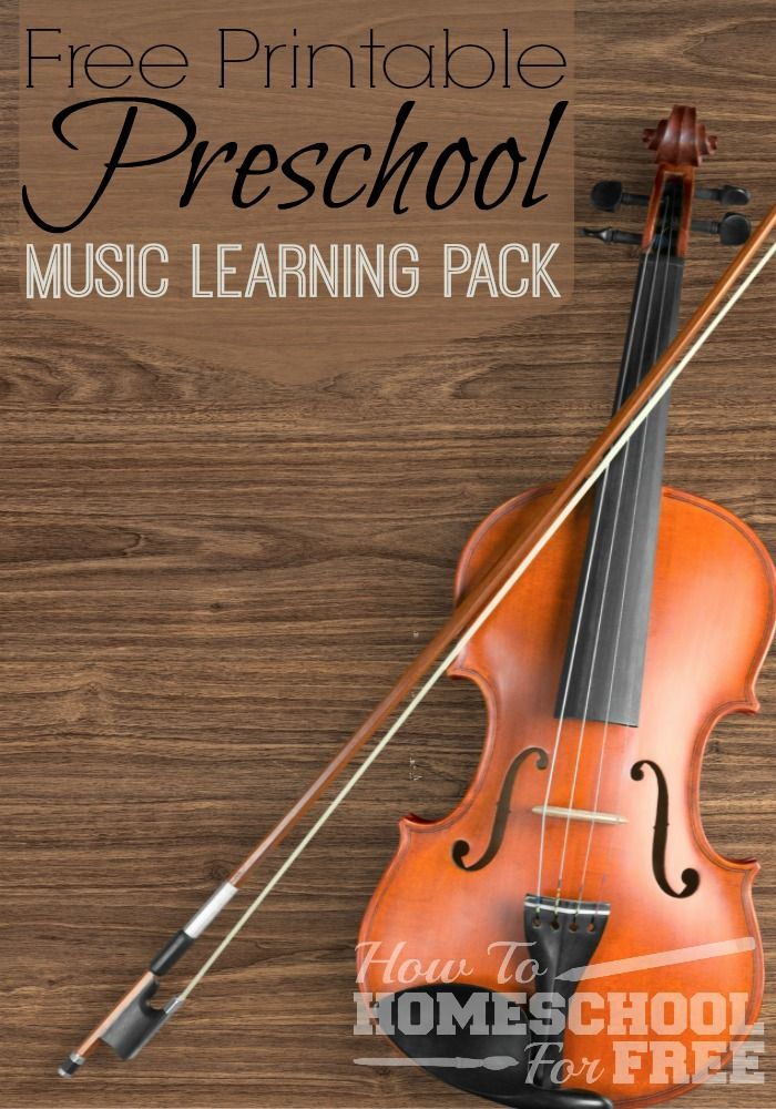 Print this FREE Music learning Pack for your preschooler!