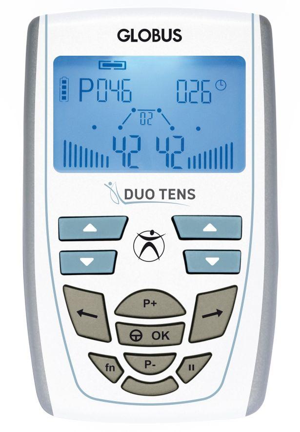 El electroestimulador Duo Tens de Globus está especialmente diseñado para combatir el dolor, gracias a sus 16 programas TENS.