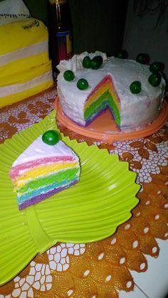 Resep Rainbow Cake Ulang Tahun Cepat Praktis Sederhana