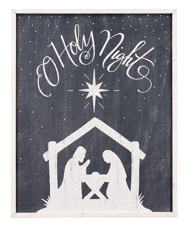 Another great find on #zulily! Black Nativity Silhouette' Wall Art #zulilyfinds