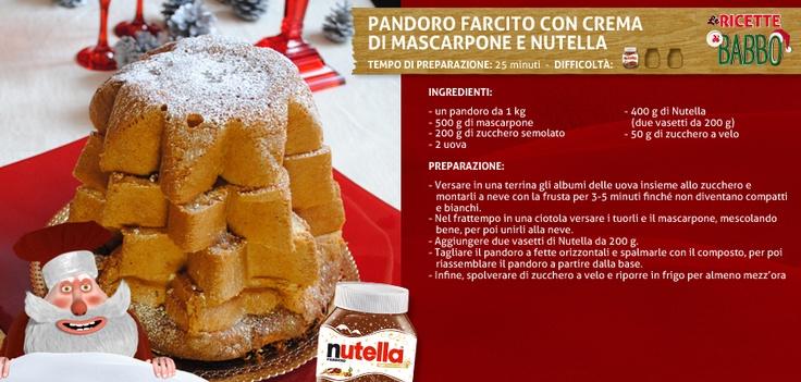 #NutellaForBabbo Pandoro Farcito