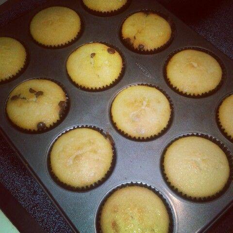 Cupcakes de chipas de chocolate