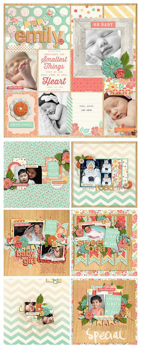 Layouts with Baby of Mine Collection by Zoe Pearn @ Sweet Shoppe Designs http://bit.ly/TfxBqp