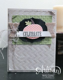 Love the different textures layered together on this festive card.