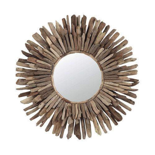 Miroir en bois flotté D 74 cm KARUKERA