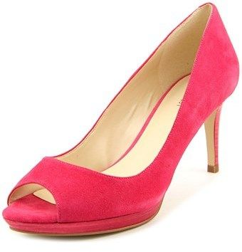 Nine West Gelabelle Women Peep-toe Suede Pink Heels.