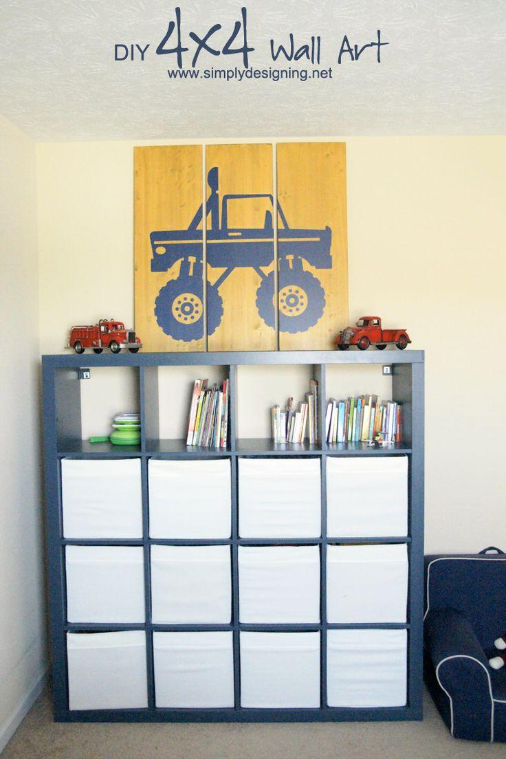 Diy 4x4 Wall Art Vinyls Pallet Art And Big Kids