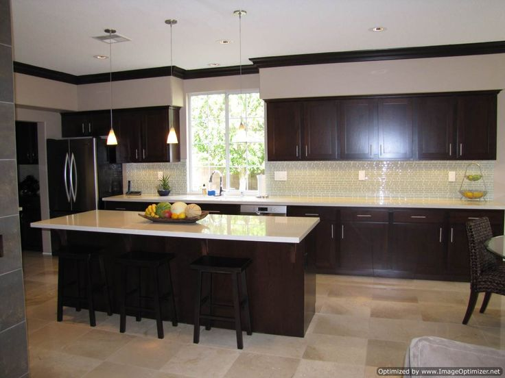 Kitchen Cabinets Espresso White Kitchen Cabinets With