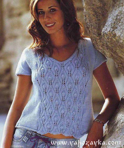 Вязаные блузки спицами схемы. Вязание летних блузок спицами | Я Хозяйка