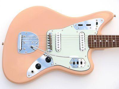 shell pink fender jaguar 1966 vintage reissue guitar cij crafted japan mij rare guitars and. Black Bedroom Furniture Sets. Home Design Ideas