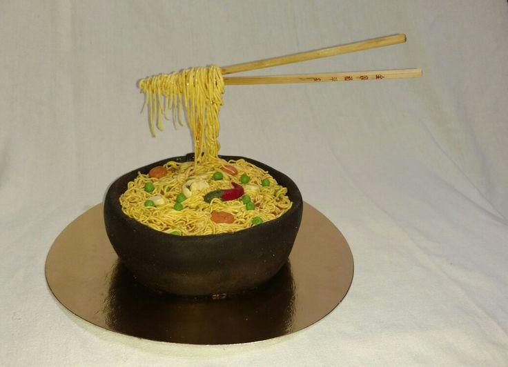 No gravity#soup cake#fondant