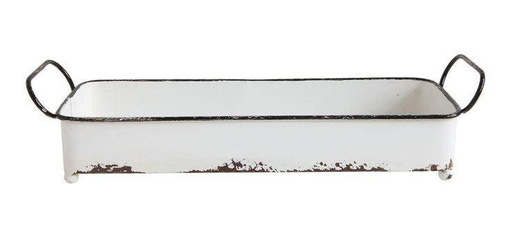 White Distressed Tray