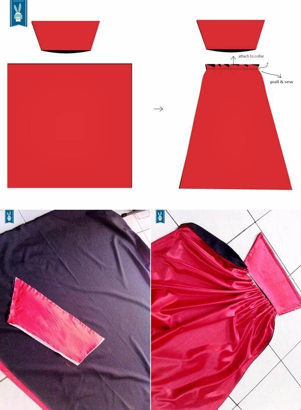 Cuello capa y coserlo a capa