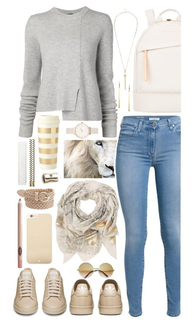 """""""#15  My kind of """"back to school"""" outfit"""" by alzbeta-zlochova ❤ liked on Polyvore featuring Want Les Essentiels de la Vie, River Island, Proenza Schouler, Sophie Darling, Charlotte Russe, Olivia Burton, 7 For All Mankind, Kate Spade and Michael Kors"""