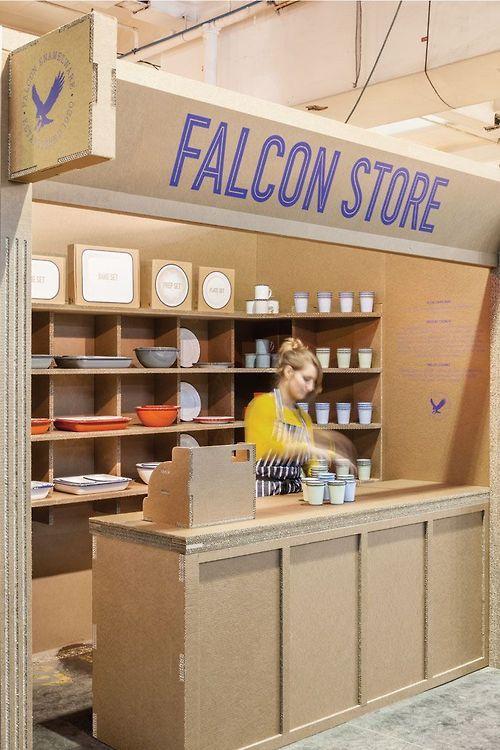 Cardboard storefront - Falcon Store