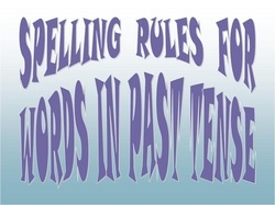 Spelling Rules for Words in Past Tense powerpoint