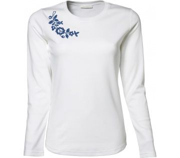 Tee Jays, Ladies Long Sleeve Interlock Tee, white, Myjava