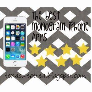 Texasweettea: iPhone Monogram Wallpaper Apps