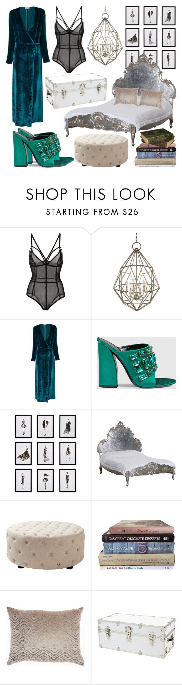 """Every Cloud Has a Silver Lining"" by heybigtrender on Polyvore featuring Feiss, Attico, Gucci, Frontgate and Tadashi"