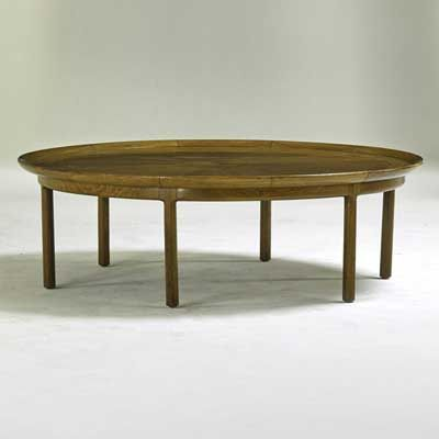 TOMLINSON; Sophisticate Coffee Table, High Point, NC, 1950s; Bleached  Walnut; Part 73