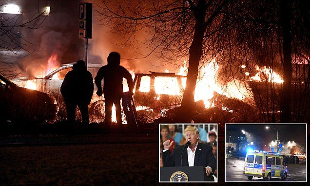 Riot breaks out in Stockholm suburb Trump referred to in speech -   Riots have broken out in the Swedish suburb that  Donald Trump  referred to in his speech about  immigration  problems.   Police were forced to fire... See more at https://www.icetrend.com/riot-breaks-out-in-stockholm-suburb-trump-referred-to-in-speech/